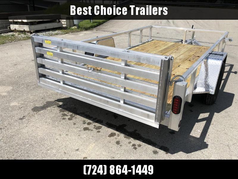 2020 QSA 6x12 Deluxe Aluminum Utility Trailer 2990# * DROP AXLES * HD TOPRAIL * BI-FOLD GATE * INTEGRATED FRAME * TUBE FRAME * CLEARANCE
