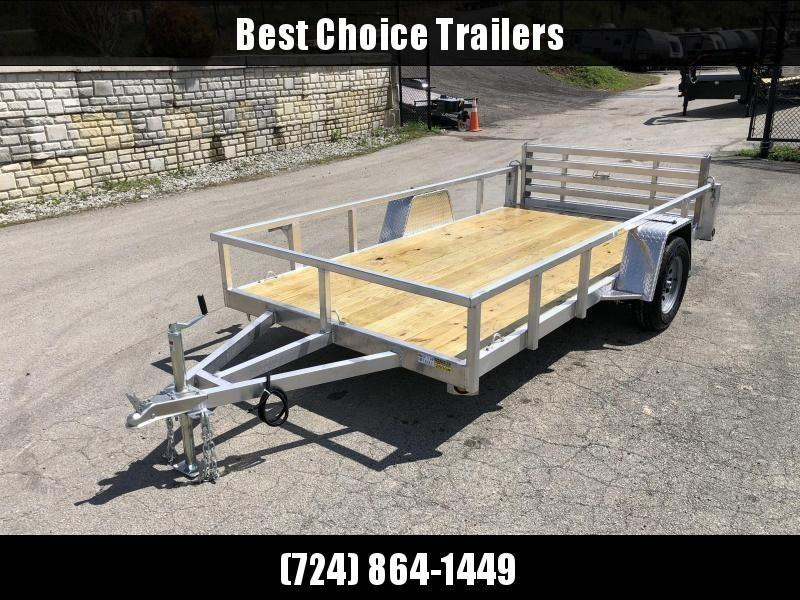 2020 QSA 6x12 Deluxe Aluminum Utility Trailer 2990# * DROP AXLES * HD TOPRAIL * BI-FOLD GATE * INTEGRATED FRAME * TUBE FRAME