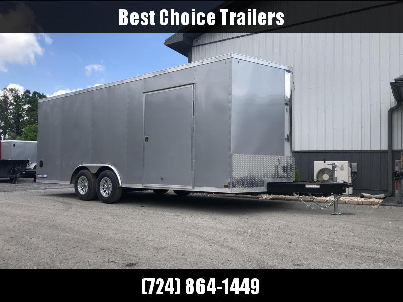 2020 Sure-Trac 8.5x24' Enclosed Car Trailer 9900# GVW * SILVER * 7K DROP LEG JACK * SCREWLESS EXTERIOR