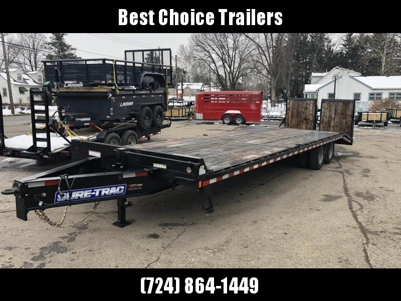 2020 Sure-Trac 102x25+5 Pintle Beavertail Deckover Trailer 22500# * Pierced Frame OAK DECK & RAMPS PAVER TRAILER  * OAK RAMPS/TAIL/DECK * FULL WIDTH RAMPS