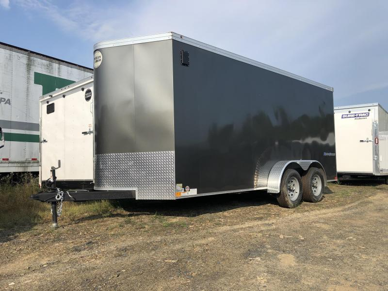"2019 Wells Cargo 7x16' Road Force Enclosed Cargo Trailer 7000# GVW * CHARCOAL * RAMP DOOR * V-NOSE * .030 * 1 PC ALUM ROOF * 6'6"" HEIGHT * TUBE STUDS * SCREWLESS * ARMOR GUARD"