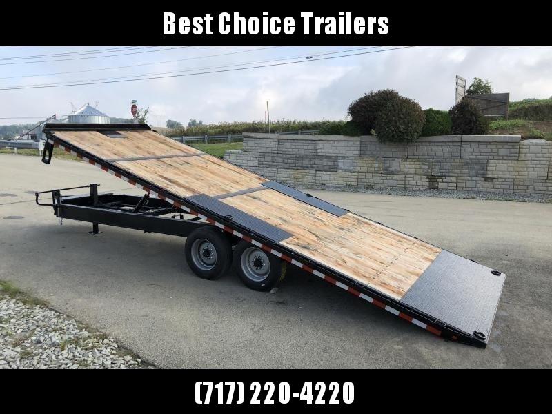 2020 Sure-Trac 102x24' 17600# Low Profile Power Tilt Deckover *  8K AXLE UPGRADE * WINCH PLATE * OAK DECK