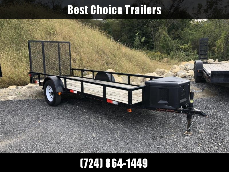 USED 2012 Quality 5x14' Utility Landscape Trailer 2990# GVW * TOOLBOX
