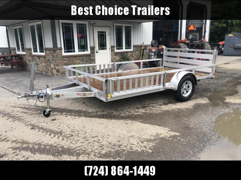 2019 H&H 7x12' RSAV Aluminum ATV Utility Landscape Trailer 2990# GVW * BI FOLD GATE * ALUMINUM WHEELS * ATV SIDE RAMPS