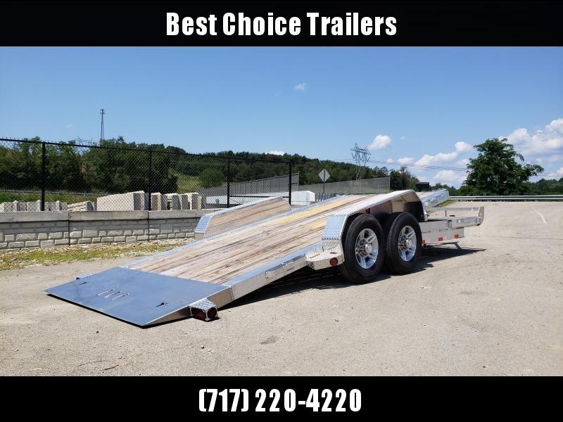 2020 Ironbull 7x20 Aluminum Gravity Tilt Equipment Trailer 14000# GVW * 16+4' SPLIT DECK * STACKED ALUMINUM FRAME * DEXTER TORSION AXLES * STOP VALVE * ALUMINUM WHEELS * RUBRAIL/STAKE POCKETS/CHAIN SPOOLS/D-RINGS * REMOVABLE FENDERS * CLEARANCE