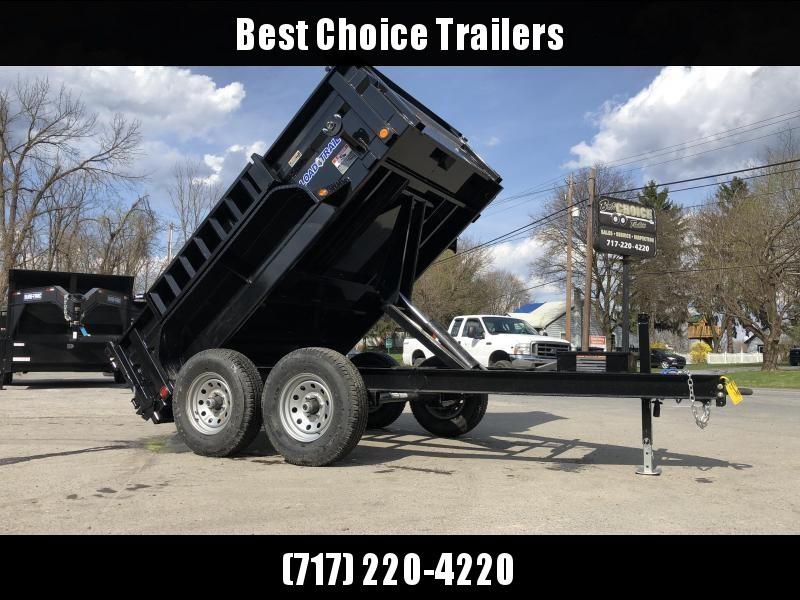 """2020 Load Trail 6x10' Dump Trailer 9990# GVW * DT7210052 * 2' SIDES * 3-WAY GATE * I-BEAM FRAME * TARP KIT * SCISSOR HOIST * 16"""" RUBBER * 6"""" TUBE BED FRAME * 110V CHARGER * DEXTER'S * 2-3-2 * POWDER PRIMER"""
