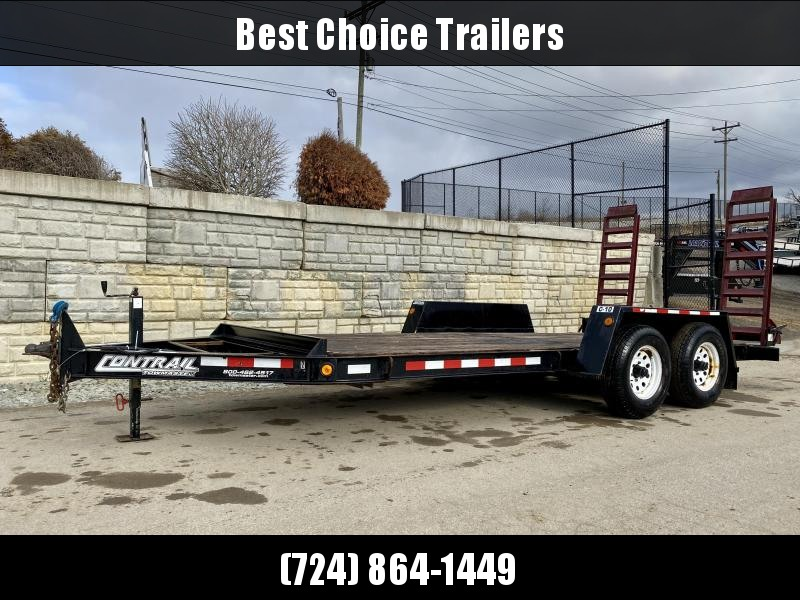 USED 2008 Towmaster 7x16' Equipment Trailer 12980# GVW * TORSION * TOOL TRAY * HD FENDERS * I-BEAM FRAME