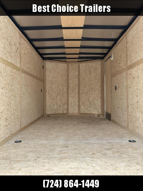2020 Wells Cargo 7x14' Fastrac DELUXE Enclosed Cargo Trailer 7000# GVW * WHITE * RAMP DOOR * V-NOSE * .030 * 1 PC ALUM ROOF * 7' HEIGHT UPGRADE UTV