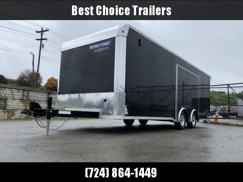 2020 Sure Trac Racing Pro Enclosed Car Hauler Trailer * STBNRP10224TA-100 * NEW MODEL * LOADED * FULL ESCAPE HATCH * BLACK