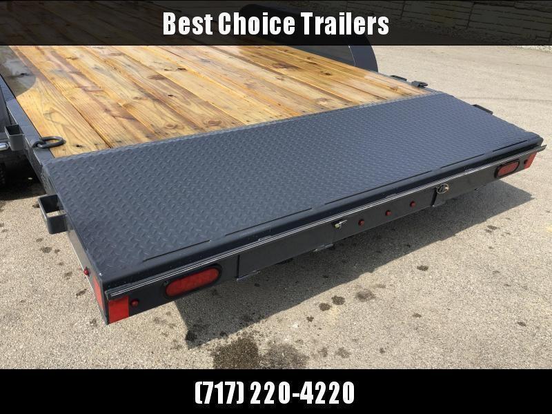 2020 Lamar 7x20 7000# Wood Deck Car Hauler Trailer * ADJUSTABLE COUPLER * DROP LEG JACK * REMOVABLE FENDERS * EXTRA STAKE POCKETS * CHARCOAL