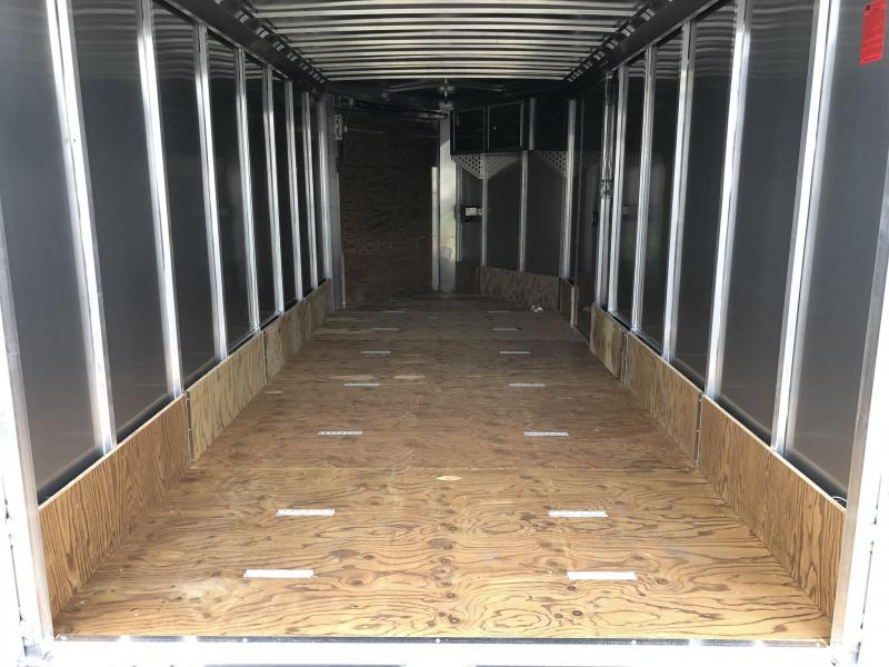 """2019 Neo 7x20' NASR Aluminum Enclosed All-Sport Trailer * CHARCOAL * FRONT RAMP * NXP LATCHES * FLOOR TIE DOWN SYSTEM * REAR JACKSTANDS * UPGRADED 16"""" OC FLOOR * UPPER CABINET * UTV * ATV * Motorcycle * Snowmobile * CLEARANCE"""