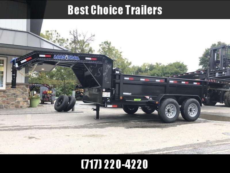 "2020 Load Trail 7x12' Gooseneck Dump Trailer 14000# GVW * 3-WAY GATE * 8"" I-BEAM FRAME * TARP KIT * SCISSOR HOIST * 6"" TUBE BED FRAME * 110V CHARGER * ADJUSTABLE COUPLER * 10GA 2PC SIDES/FLOOR * INTEGRATED KEYWAY * POWDER PRIMER * 12K JACK"