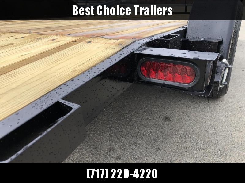 2019 AMO 7x16' Wood Deck Car Trailer 7000# GVW * LED TAIL LIGHTS * CLEARANCE