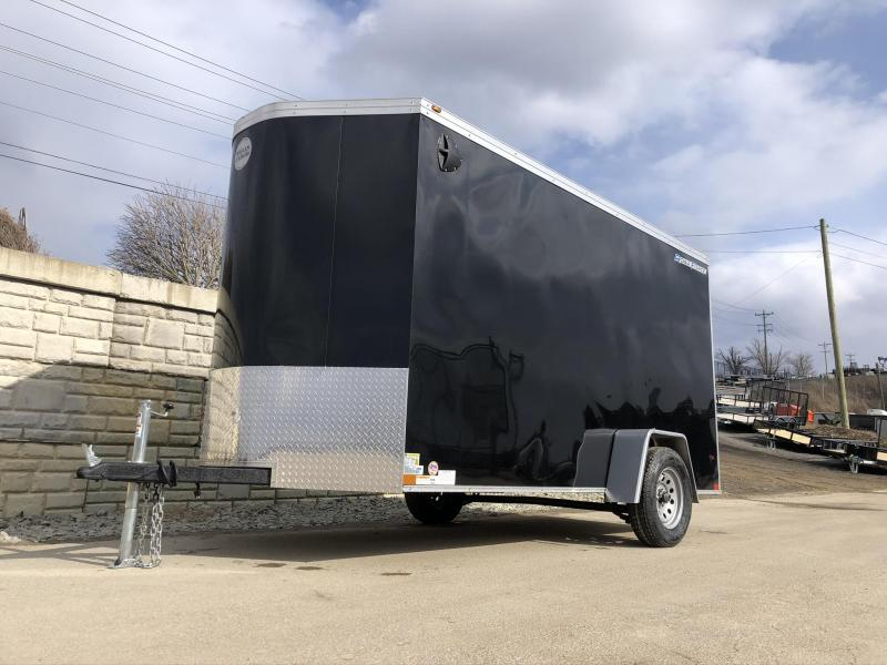 "2020 Wells Cargo 6x12' Road Force Enclosed Cargo Trailer 2990# GVW * BLACK EXTERIOR * RAMP DOOR * SCREWLESS .030 EXTERIOR * 1PC ALUM ROOF * 6'6"" HEIGHT * TUBE STUDS * 16"" O.C WALLS * ARMOR GUARD TONGUE"