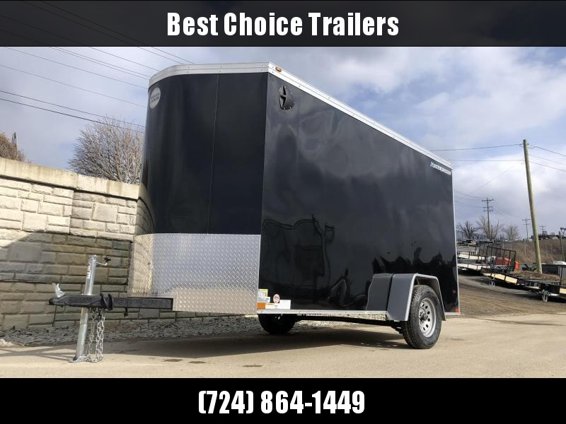 "2020 Wells Cargo 6x12' Road Force Enclosed Cargo Trailer 2990# GVW * BLACK EXTERIOR * RAMP DOOR * V-NOSE * SCREWLESS .030 EXTERIOR * 6'6"" HEIGHT * TUBE STUDS * 1 PC ROOF * 16"" O.C. C/M * ARMOR GUARD * RV DOOR * BULLET LED'S"