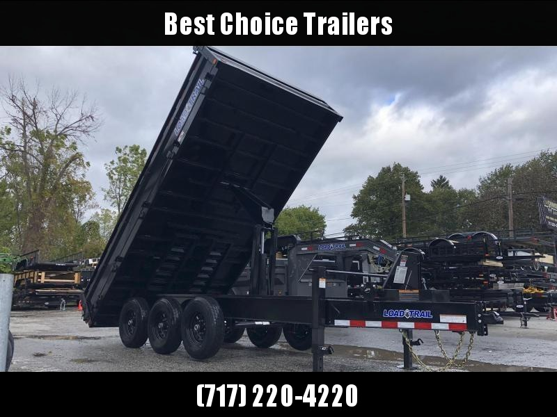 "2020 Load Trail 8x16' Deckover Dump Trailer 21000# GVW * 4' SIDES * OVERSIZE 6X21"" SCISSOR HOIST * 10"" I-BEAM FRAME * TARP KIT * 3-WAY GATE * 12K JACK * 6"" TUBE BED FRAME * 110V CHARGER * 10GA SIDES/FLOOR * INTEGRATED KEYWAY * POWDER PRIMER * DEXTER'S"