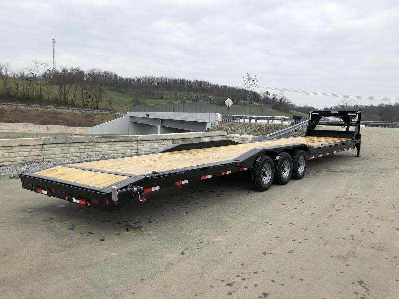 "2020 Ironbull 102x34' Gooseneck Car Hauler Trailer 21000# * 4' DOVETAIL * FULL WIDTH RAMPS * 102"" DECK * DRIVE OVER FENDERS * BUGGY HAULER * DUAL JACKS * TOOLBOX"