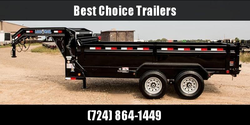 """2019 Load Trail 7x12' Gooseneck Dump Trailer 14000# GVW * GD8312072 * 8"""" I-BEAM FRAME * DUAL 12K JACKS * 3-WAY GATE * TARP KIT * SCISSOR HOIST * 10GA 2PC SIDES & FLOOR * 6"""" TUBE BED FRAME * CLEARANCE"""