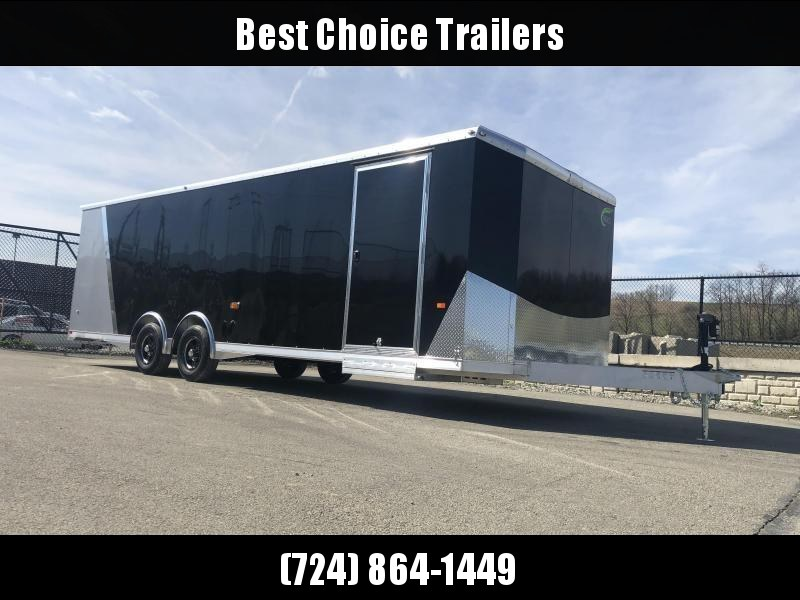 2020 NEO 8.5x26' Liberator Aluminum Enclosed Car Trailer 9990# GVW * NACX2685 * SILVER * FULL ESCAPE DOOR * NUDO FLOOR/RAMP * 5200# TORSION * BULLNOSE * SPREAD AXLE * DRT REAR SPOILER * NXP RAMP * MANY OPTIONS