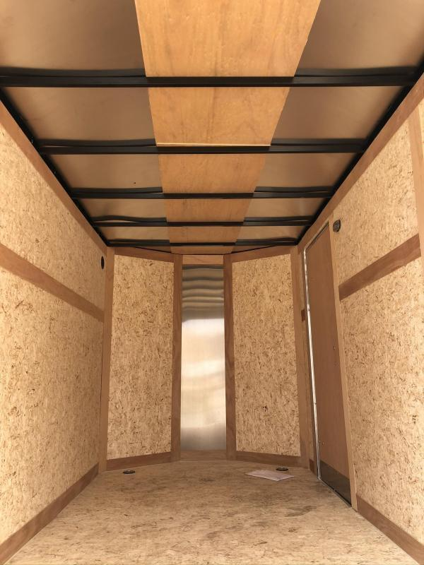 """2020 Wells Cargo 6x12' Fastrac DELUXE Enclosed Cargo Trailer 2990# GVW * BLACK EXTERIOR * RAMP DOOR * V-NOSE * .030 EXTERIOR * 6'6"""" HEIGHT * TUBE STUDS * 3/8"""" WALLS * 1 PC ROOF * 16"""" O.C. WALLS * BULLET LED'S"""