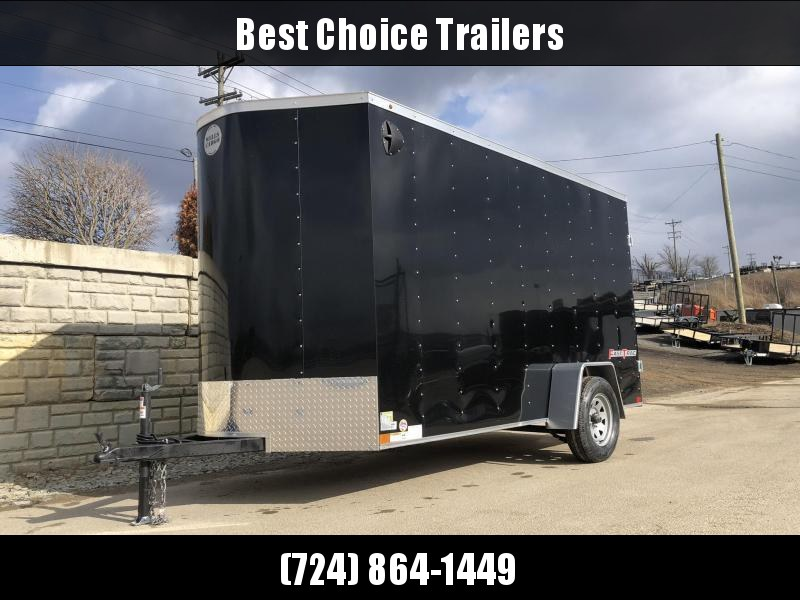 "2020 Wells Cargo 6x12' Fastrac DELUXE Enclosed Cargo Trailer 2990# GVW * BLACK EXTERIOR * RAMP DOOR * V-NOSE * .030 EXTERIOR * 6'6"" HEIGHT * TUBE STUDS * 3/8"" WALLS * 1 PC ROOF * 16"" O.C. WALLS * BULLET LED'S"