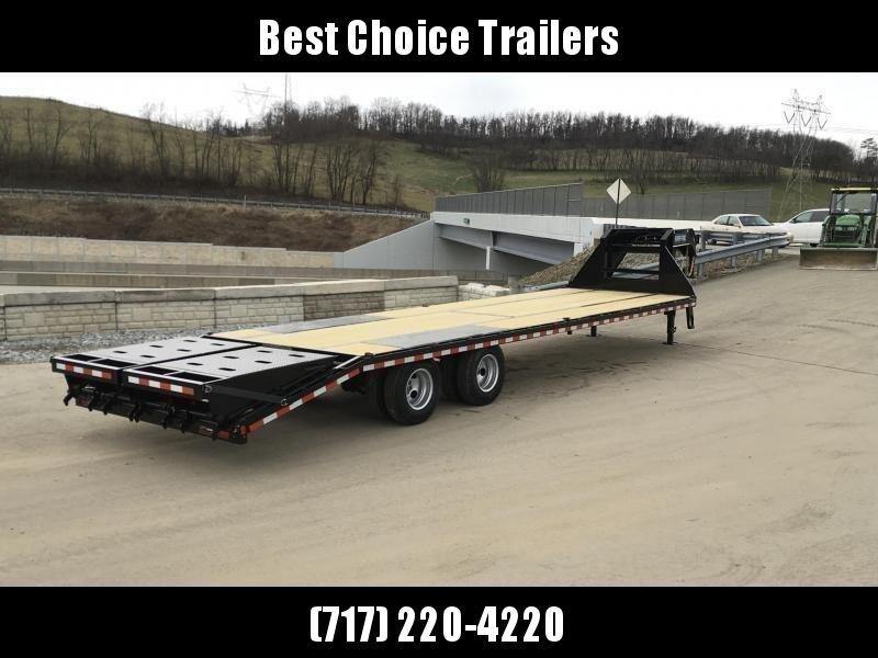 "2020 Sure-Trac 102x30' Gooseneck Beavertail Deckover Trailer 22500# GVW * FULL WIDTH RAMPS (STAND UP OR FLIPOVER) * DEXTER AXLES * 12"" I-BEAM * PIERCED FRAME * RUBRAIL/STAKE POCKETS/PIPE SPOOLS/10 D-RINGS * CROSS TRAC BRACING * HD BEAVERTAIL"