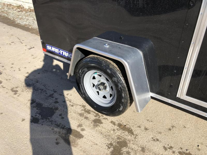 2020 Sure-Trac 6x12' Enclosed Cargo Trailer 2990# GVW * CHARCOAL * SEMI-SCREWLESS * RV DOOR * TUBE STUDS * UNDERCOATED * V-NOSE