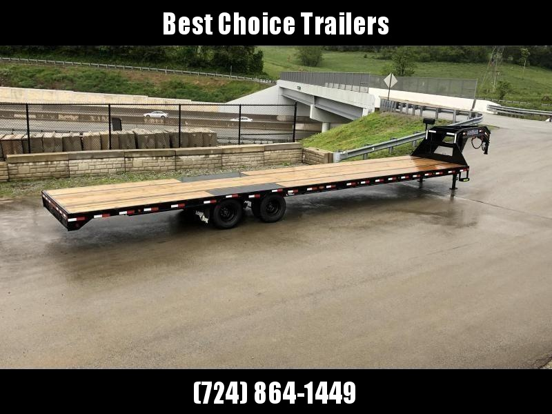 2020 Load Trail 102x40' Gooseneck Flatbed Deckover Trailer 25990# GVW * HOTSHOT TRAILER * 12K DEXTER AXLES * 12K WINCH * STRAIGHT DECK W 8' SLIDE IN RAMPS * HDSS SUSPENSION * UNDER FRAME BRIDGE * TORQUE TUBE * WINCH PLATE * PRIMER * 2-3-2 WARRANTY