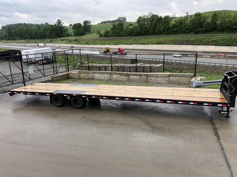 2020 Load Trail 102x40' HOTSHOT Gooseneck Deckover Flatbed 24000# Trailer * GP0240122 * 12K DEXTER AXLES * 8' RAMPS * HDSS Suspension * Under frame bridge * Torque Tube