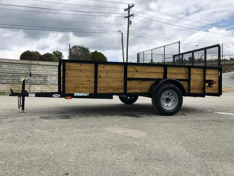 "2020 AMO 78""x10' Wood HIGH SIDE Angle Iron Utility Landscape Trailer 2990# GVW * 4-BOARD HIGH SIDE"