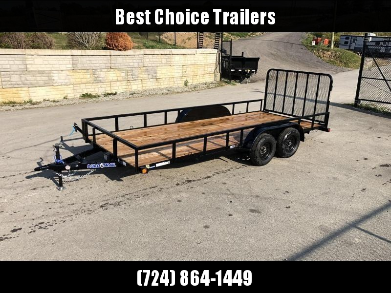 """2020 Load Trail 7x16' Utility Landscape Trailer 7000# GVW * SPARE MOUNT * TUBE TOP * 4"""" CHANNEL FULL WRAP TONGUE * TUBE BUMPER * ALL LED'S * TIE DOWNS * TUBE GATE C/M * CAST COUPLER * COLD WEATHER HARNESS * DEXTER'S * 2-3-2 WARRANTY"""