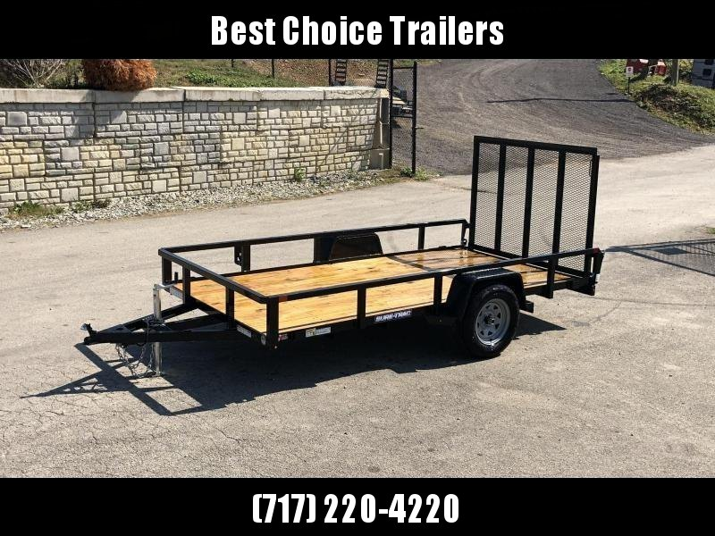 "2020 Sure-Trac 6x12' Tube Top Utility Landscape Trailer 2990# GVW * 2"" TUBE TOP RAIL * 2X2"" TUBE GATE C/M + SPRING ASSIST + FOLD FLAT * TOOLESS GATE REMOVAL * SPARE MOUNT * PROTECTED WIRING * SET BACK JACK * TRIPLE TUBE TONGUE * STAKE POCKETS * BULLET LED"