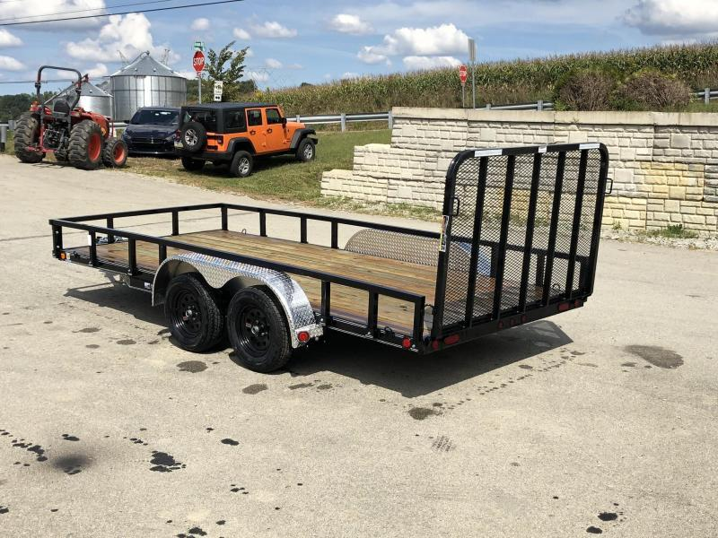 2020 Load Trail 7x16' Commercial Utility Landscape Trailer * XT8316032 * REMOVABLE SIDES * CHANNEL FRAME * TUBE GATE * ALUMINUM FENDERS * CLEARANCE