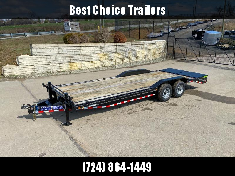 "2019 Load Trail 102x24' Equipment Trailer 14000# GVW * 102"" DECK * DRIVE OVER FENDERS * 8"" TONGUE & FRAME * DUAL JACKS * FULL WIDTH MAX RAMPS * RUBRAIL * DEXTER'S * 2-3-2 * POWDER PRIMER * CLEARANCE"