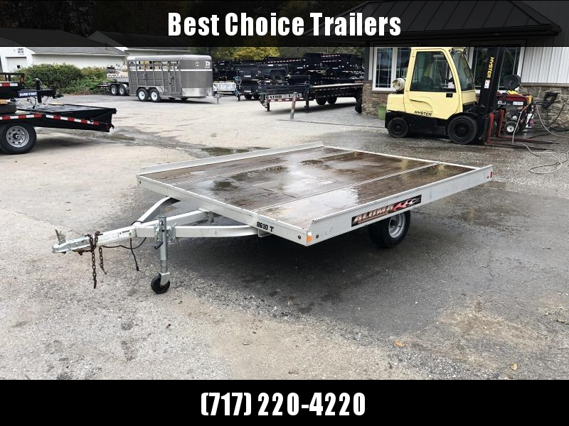 USED 2013 Aluma 88x10' Aluminum Snowmobile/ATV Trailer 2200 GVW