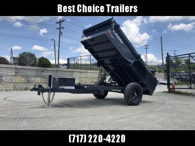 2020 Lamar 5x10' DS60 Dump Trailer 7000# GVW - SINGLE AXLE * TARP KIT * RAMPS * SPARE MOUNT * CHARCOAL
