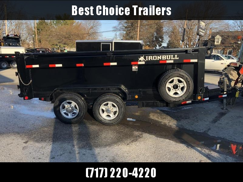 2018 Ironbull 7x14' 3' HIGH SIDES Dump Trailer 14000# GVW RAMPS * TARP * SCISSOR * CLEARANCE - FREE ALUMINUM WHEELS