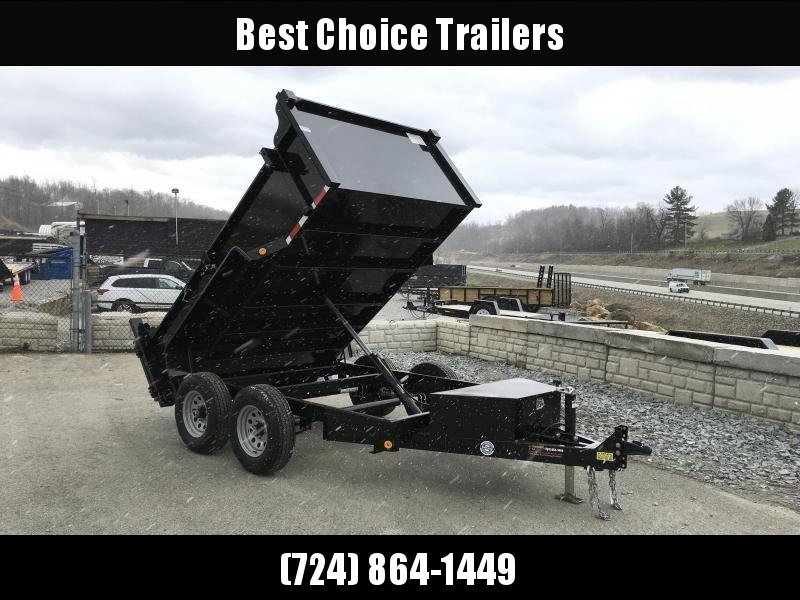 2019 QSA 6x10' Low Profile SD Dump Trailer 9850# GVW