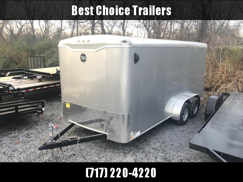 "2020 Wells Cargo 7x16' Road Force Enclosed Cargo Trailer  7000# GVW * RF716T2 * ROUND TOP * SCREWLESS .030 EXTERIOR * 1 PIECE ROOF * RV DOOR * 6'6"" HEIGHT * ARMOR GUARD * SILVER"