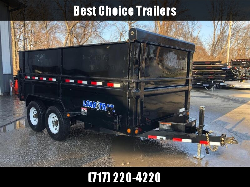 USED 2014 Load Trail 7x14' High Side Dump Trailer 14000# GVW * 4' SIDES * SCISSOR HOIST * 3-WAY GATE * 10 GA SIDES & FLOOR