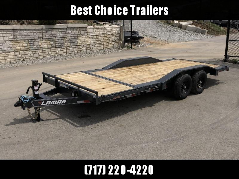 "2020 Lamar 102x20 Gravity Tilt Equipment Trailer 14000# GVW * 16+4' SPLIT DECK * 102"" DECK WITH DRIVE OVER FENDERS * GRAVITY TILT WITH STOP VALVE * TORSION AXLES * CHARCOAL POWDERCOAT * COLD WEATHER HARNESS * 12K JACK * RUBRAIL/STAKE POCKETS/PIPE SPOOLS"