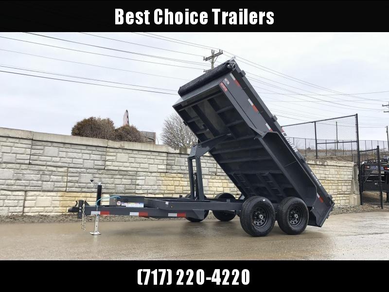 2020 Lamar 77x12' 9990# GVW Dump Trailer * 3-WAY GATE * SCISSOR HOIST * DROP JACK * DELUXE TARP KIT * ADJUSTABLE COUPLER * SPARE MT * RIGID RAILS * HARD TO FIND WIDTH!!
