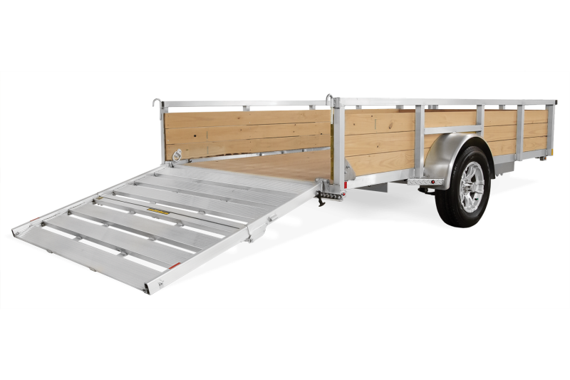 "2020 H&H 76""x12' Aluminum Wood High Side Utility Landscape Trailer 2990# GVW * BI FOLD GATE * ALUMINUM WHEELS"