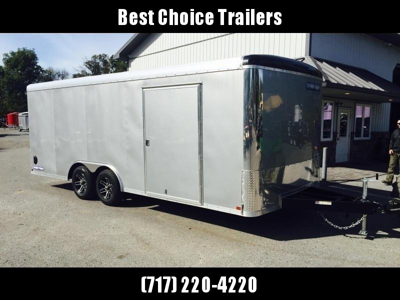 2020 Sure-Trac 8.5x20' 9900# STRCH Commercial Enclosed Cargo Trailer * ROUND TOP * RAMP DOOR  * SILVER * 7K DROP LEG JACK