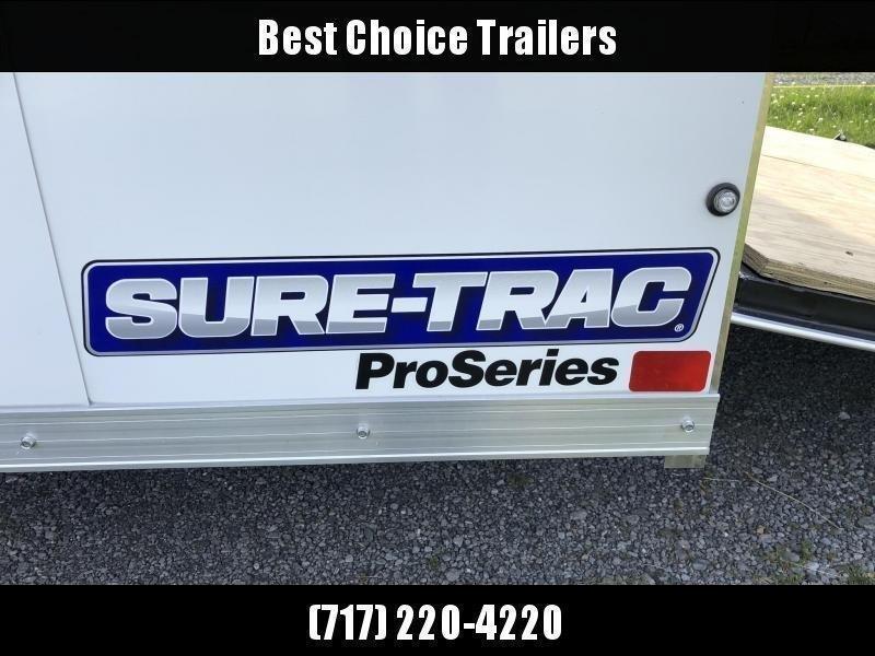 "2020 Sure-Trac 8.5x18 STRLP Landscape Pro Package Trailer 9900# GVW * WHITE * 2X6"" PLANK FLOOR"