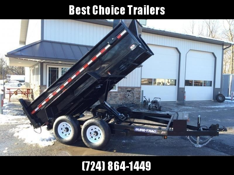 2019 Sure-Trac 7x12' Dump Trailer 12000# GVW * SCISSOR HOIST * FRONT/REAR BULKHEAD * INTEGRATED KEYWAY * 2' SIDES * UNDERBODY TOOL TRAY * ADJUSTABLE COUPLER * 110V CHARGER * UNDERMOUNT RAMPS * COMBO GATE * 7K DROP LEG JACK * CLEARANCE