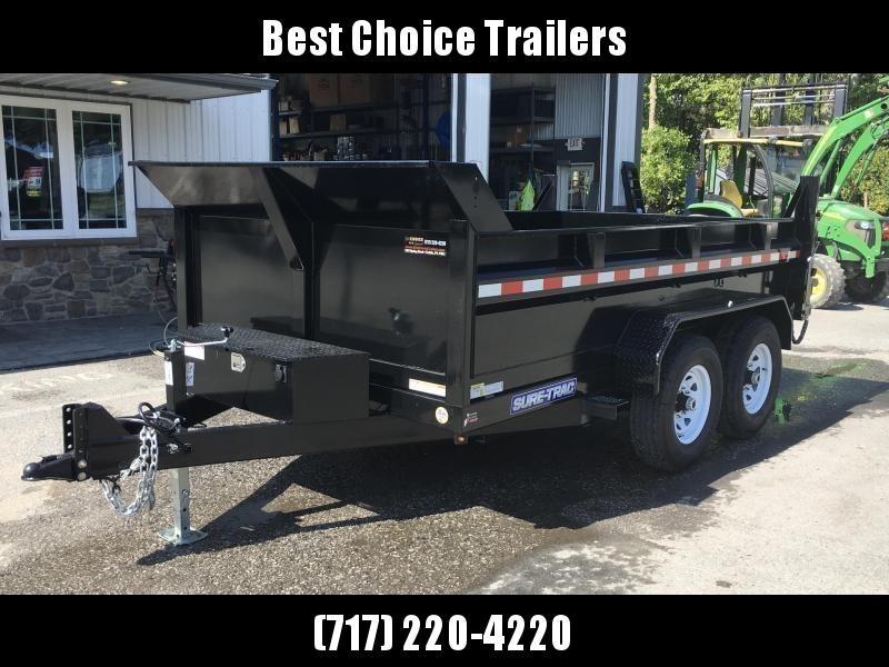 2019 Sure-Trac 7x12' HD LowPro Dump Trailer 12000# GVW * SCISSOR HOIST *ST8212HLOD-B-120