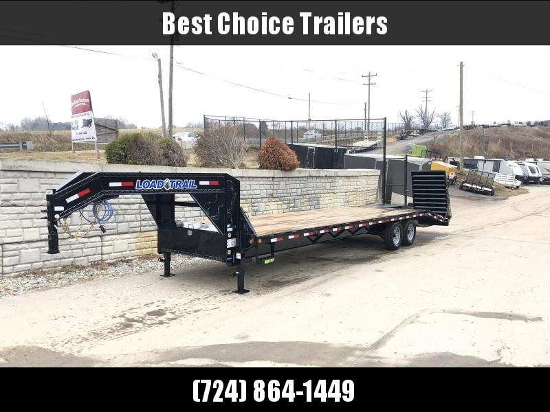"2019 Load Trail 102x30' Gooseneck Beavertail Deckover Flatbed 14000# Trailer * GH0230072 * MAX Ramps * Dexter Axles * 12"" I-Beam * Zinc Primer * Full toolbox/Dual jacks"