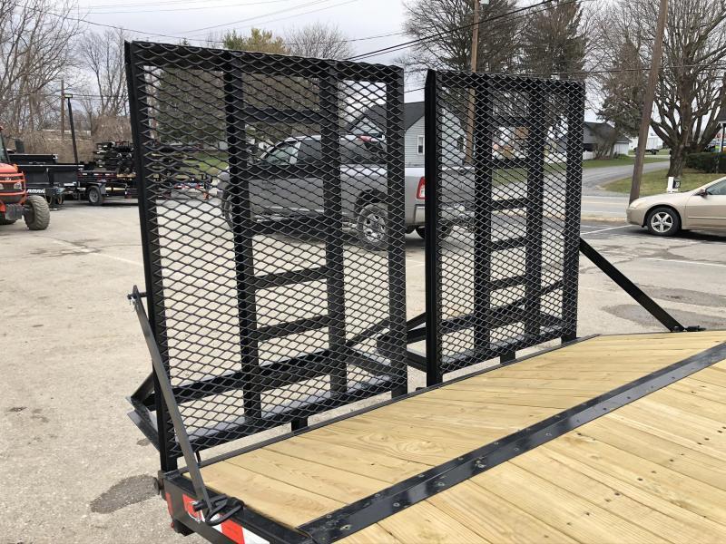 2020 Sure-Trac 102x20 Beavertail Deckover Trailer 9900# GVW * HD SPLIT GATE + SPRING ASSIST * TUBE SIDE RAIL + CROSSMEMBERS * RUBRAIL/STAKE POCKETS/D-RINGS * SPARE MOUNT * ADJUSTABLE COUPLER * DROP LEG JACK