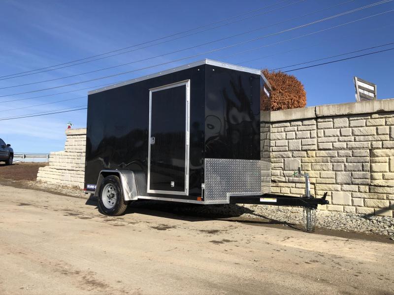 2020 Sure-Trac 6x10' Enclosed Cargo Trailer 2990# GVW * BLACK * SEMI-SCREWLESS * RV DOOR * TUBE STUDS * UNDERCOATED * V-NOSE